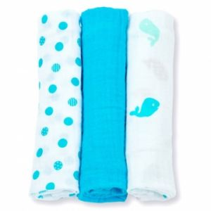 Lulujo medium swaddle - Brilliant blue 3-pack-0