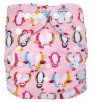 Pocketluier minky - Pinguins roze-0