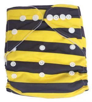 Pocketluier - Zwart/geel gestreept-0