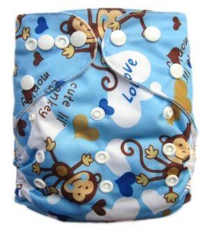Pocketluier - Aap Love blauw-0