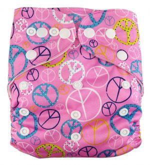 Pocketluier - Peace roze-0
