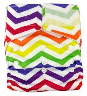 Pocketluier klittenband – Gekleurde zigzag strepen-0