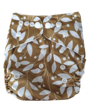 Wasbare luier Bababoe  / Pocket luier Fleece - met bamboe inlegger/ Leaves