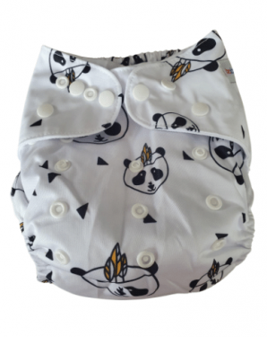 Wasbare luier Bababoe  / Pocket luier Fleece - met bamboe inlegger/ Mister Panda