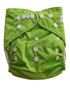 Wasbare luier Bababoe  / Pocket luier Fleece - met inlegger/ Groen