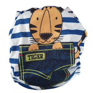 Wasbare luier Bababoe - met luier inlegger / Pocket luier - / Tiger Stripe