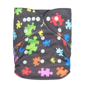 Pocketluier Bamboe - puzzelstukjes-0